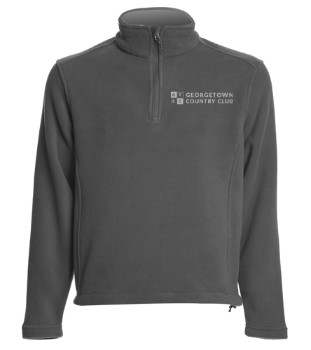 Georgetown Country Club Grey - SwimOutlet Adult Unisex Fleece 1/4-Zip Pullover