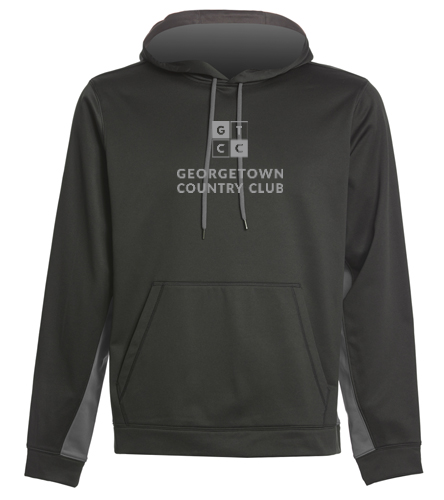 Georgetown Country Club dark grey - SwimOutlet Sport-Wick® Fleece Colorblock Hooded Pullover