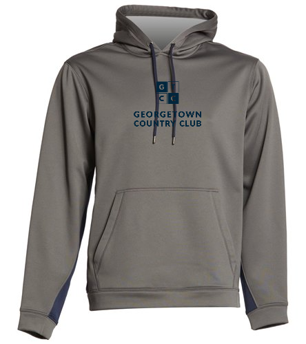 Georgetown Country Club Lt. Grey_ - SwimOutlet Sport-Wick® Fleece Colorblock Hooded Pullover