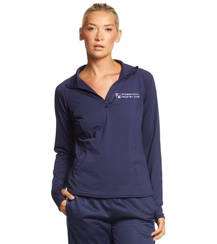Georgetown Country Club Navy - SwimOutlet Sport-Tek® Women's Sport-Wick® Stretch 1/2-Zip Pullover