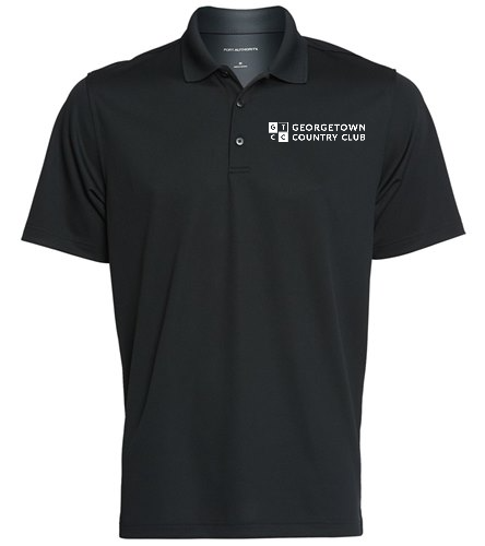 Georgetown Country Club Blk - SwimOutlet Men's Dry Zone® UV Micro-Mesh Polo