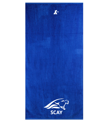 SCAY Team Towel - Royal Comfort Terry Velour Beach Towel 32 X 64
