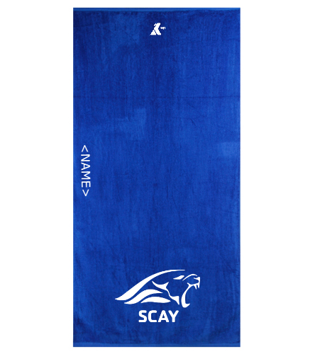 SCAY Personalized Towel - Royal Comfort Terry Velour Beach Towel 32 X 64