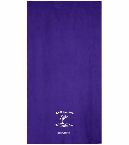 ASW Synchro - Royal Comfort Terry Velour Beach Towel 32 X 64