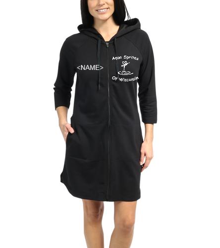 ASW Robe Black - Speedo Aquatic Fitness Robe with Hood