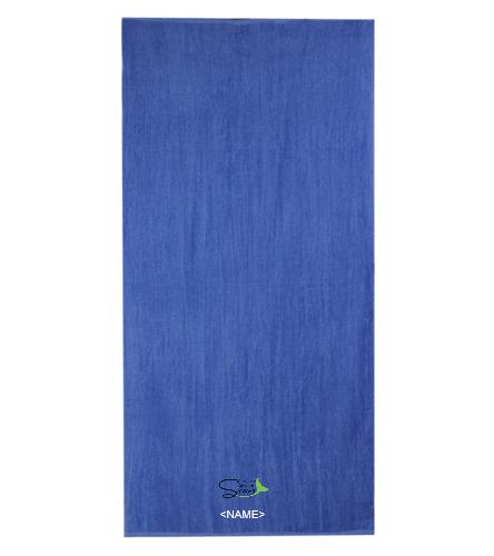 Aqua Sprites Synchronized Swim Club Inc - Diplomat Terry Velour Beach Towel 30 x 60