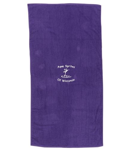 TowelASW  - Diplomat Terry Velour Beach Towel 30 x 60