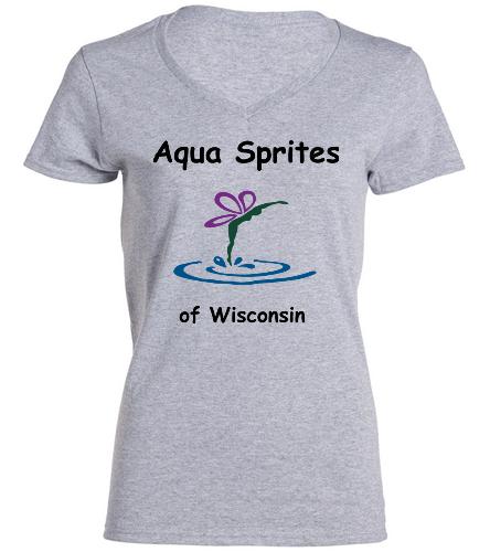 Grey Team Shirt ASW - SwimOutlet Women's Cotton V-Neck T-Shirt