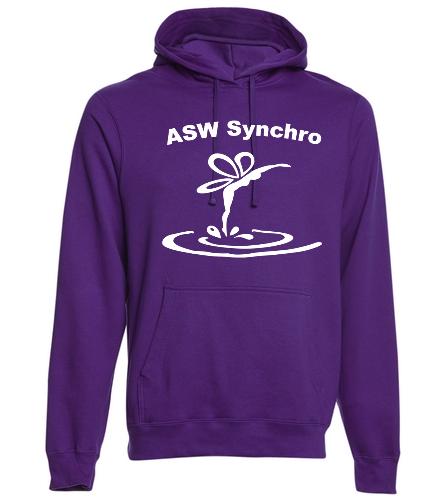 Purple Hoodie - SwimOutlet Adult Fan Favorite Fleece Pullover Hooded Sweatshirt