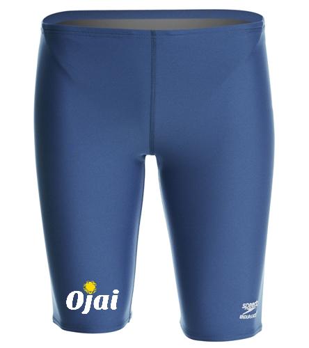 Ojai Solid Jammer Bottom Logo  - Speedo Men's Solid Endurance+ Jammer Swimsuit
