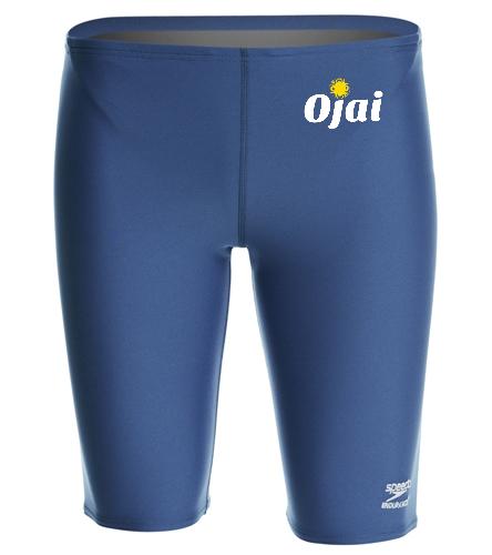 Ojai Solid Jammer Top Logo  - Speedo Men's Solid Endurance+ Jammer Swimsuit