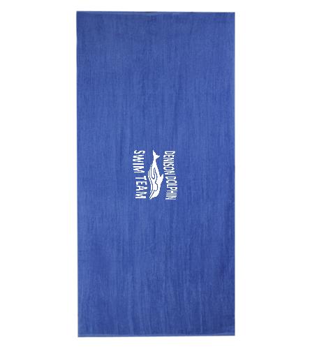 Dolphin Towel - Diplomat Terry Velour Beach Towel 30 x 60