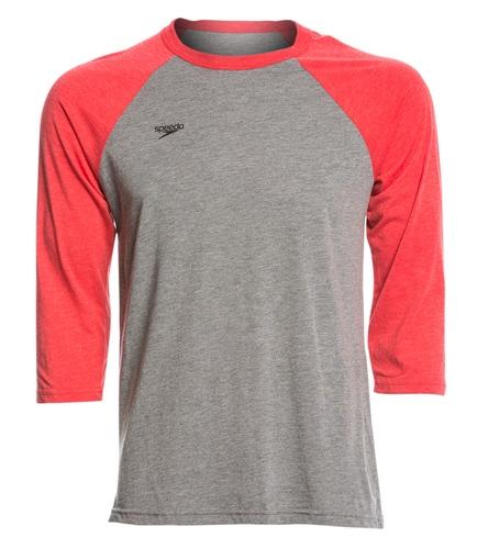 bkys back logo mens ls tee - Speedo Unisex Baseball Tee Shirt