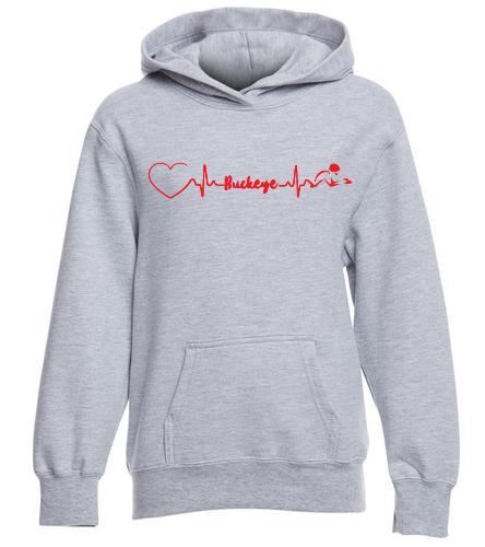 Buckeye Love  Sweatshirt - SwimOutlet Youth Fan Favorite Fleece Pullover Hooded Sweatshirt