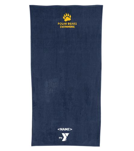 Polar Bears Swimming - Royal Comfort Terry Velour Beach Towel 32 X 64