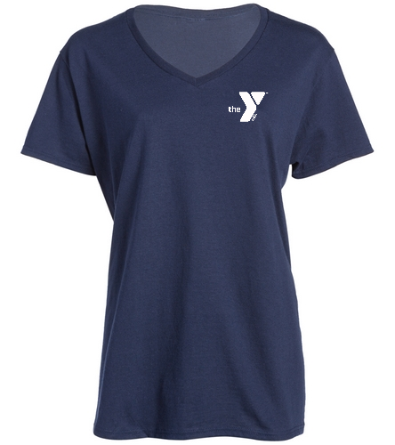 Polar Bears V-Neck Shirt - SwimOutlet Women's Cotton V-Neck T-Shirt