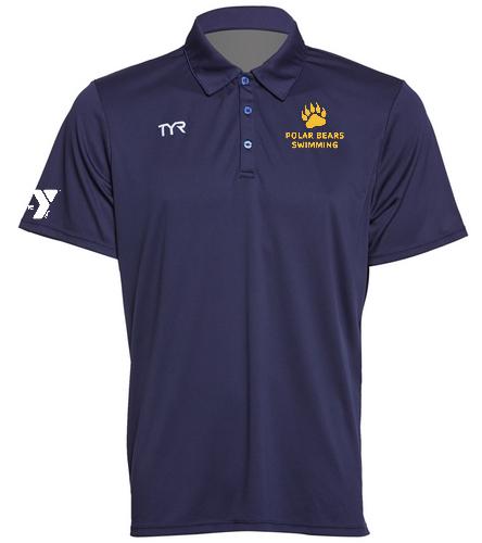 Polar Bears TYR Polo - TYR Men's Alliance Coaches Polo