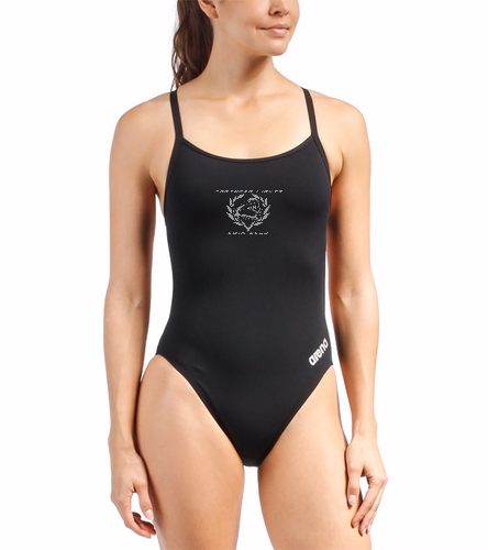NLSC - Arena Mast One Piece Swimsuit - Arena Women's Mast MaxLife Thin Strap Open Racer Back One Piece Swimsuit