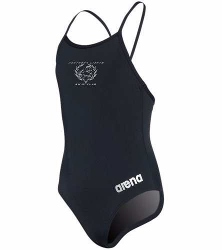 NLSC - Arena Master Youth One Piece Swimsuit - Arena Girls' Master MaxLife Thin Strap Micro Back One Piece Swimsuit