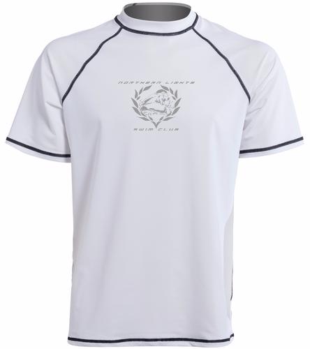 NLSC White - Sporti Men's S/S UPF 50+ Swim Shirt - Sporti Men's S/S UPF 50+ Swim Shirt - Sporti Men's S/S UPF 50+ Swim Shirt