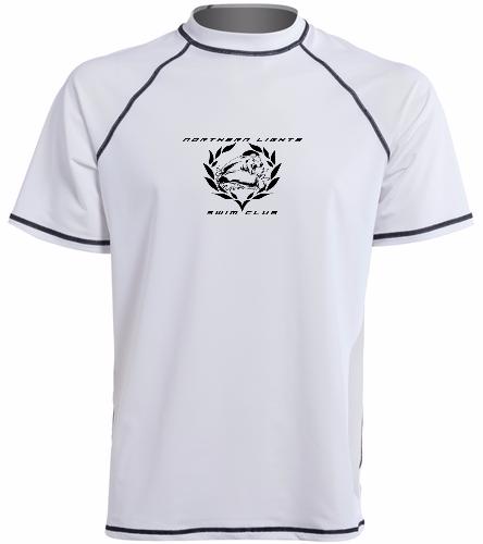 NLSC White - Men's S/S UPF 50+ Swim Shirt - Sporti Men's S/S UPF 50+ Swim Shirt