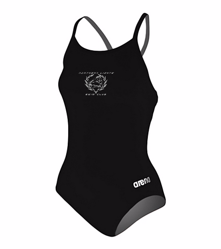 NLSC - Arena Master One Piece Swimsuit - Arena Women's Master MaxLife Sporty Thin Strap Racer Back One Piece Swimsuit