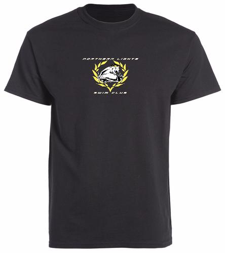 Black_T-Shirt - SwimOutlet Unisex Cotton Crew Neck T-Shirt