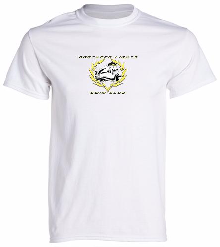NLSC White - Heavy Cotton Adult T-Shirt - SwimOutlet Unisex Cotton Crew Neck T-Shirt