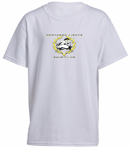 NLSC White - Heavy Cotton Youth T-Shirt - SwimOutlet Youth Cotton Crew Neck T-Shirt