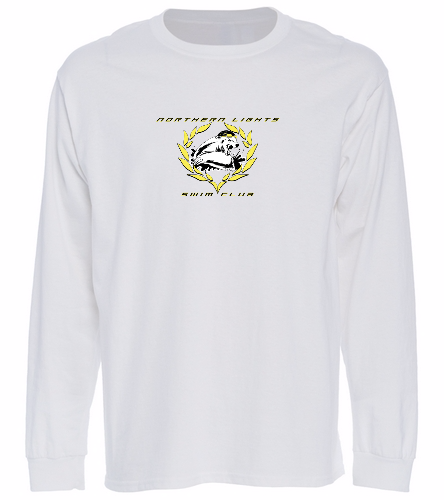NLSC White - Long Sleeve T-Shirt - SwimOutlet Cotton Unisex Long Sleeve T-Shirt