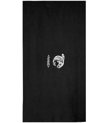 KKW Towel - Black/White- Royal - Royal Comfort Terry Velour Beach Towel 32 X 64