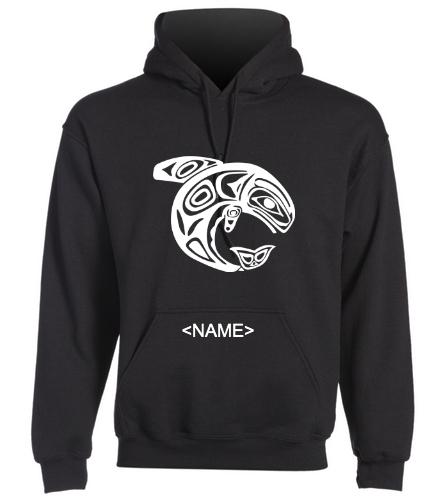 KKW Adult Hoodie - Black - SwimOutlet Heavy Blend Unisex Adult Hooded Sweatshirt