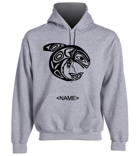 KKW Adult Hoodie - Gray - SwimOutlet Heavy Blend Unisex Adult Hooded Sweatshirt