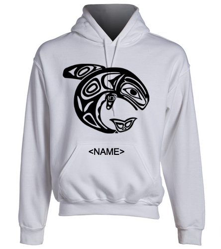 KKW Adult Hoodie - White - SwimOutlet Heavy Blend Unisex Adult Hooded Sweatshirt