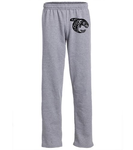 KKW Adult Open Bottom Sweatpant - Gray - SwimOutlet Heavy Blend Unisex Adult Open Bottom Sweatpants