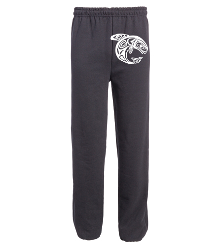 KKW Adult Open Bottom Sweatpant - Black - SwimOutlet Heavy Blend Unisex Adult Open Bottom Sweatpants