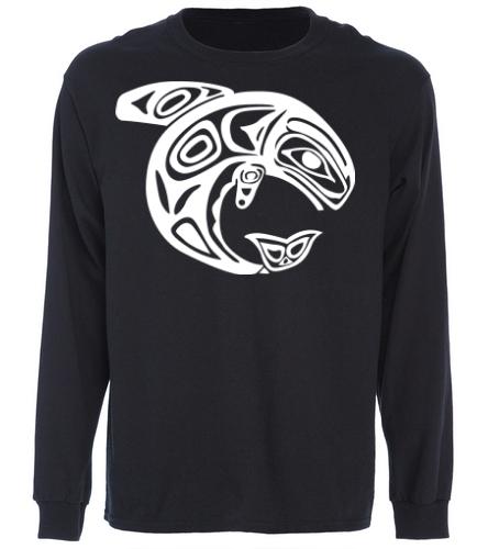 KKW L/S Tee - Black/White - SwimOutlet Cotton Unisex Long Sleeve T-Shirt