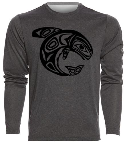 KKW Mens L/S Tech Shirt - SwimOutlet Men's Long Sleeve Tech T Shirt