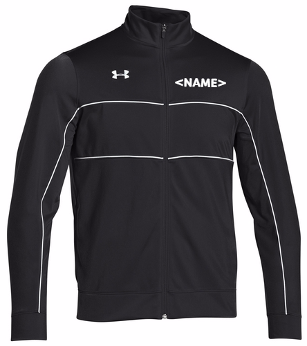 Black/White - Under Armour Men's Rival Knit Warm-Up Jacket