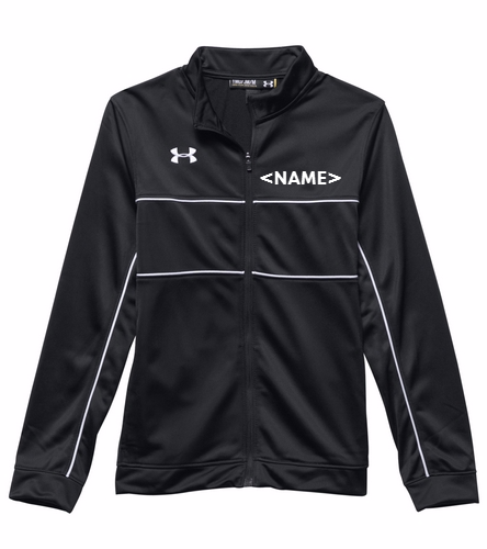 Black/White - Under Armour Youth Rival Knit Warm-Up Jacket