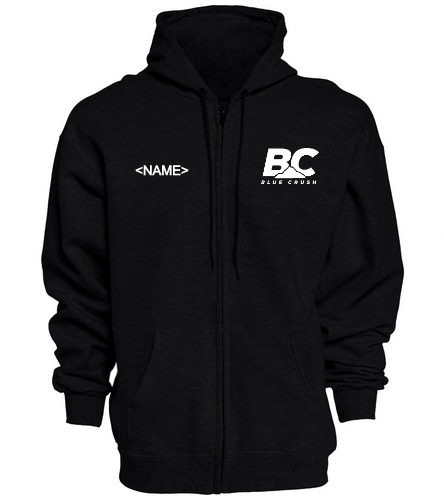 Black Crush Zip Hoodie - SwimOutlet Unisex Adult Full Zip Hoodie