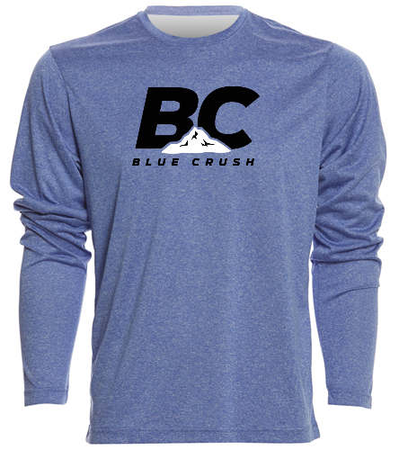 Blue Crush Long Sleeve - SwimOutlet Men's Long Sleeve Tech T Shirt