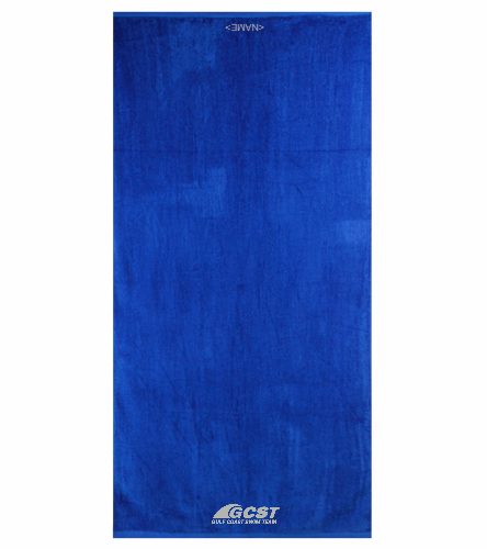 Gulf Coast Swim Team Royal Towel  - Royal Comfort Terry Velour Beach Towel 32 X 64