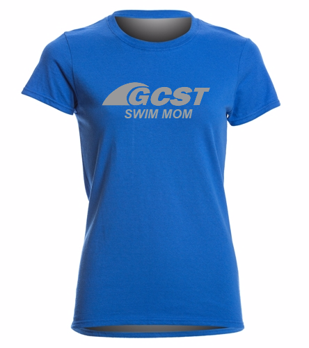 GC Swim Mom - Blue -  Heavy Cotton Missy Fit T-Shirt