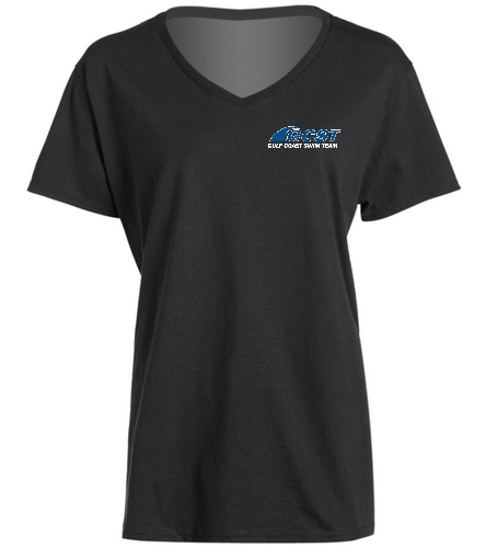 GC V-Neck - Black -  Ladies V-Neck