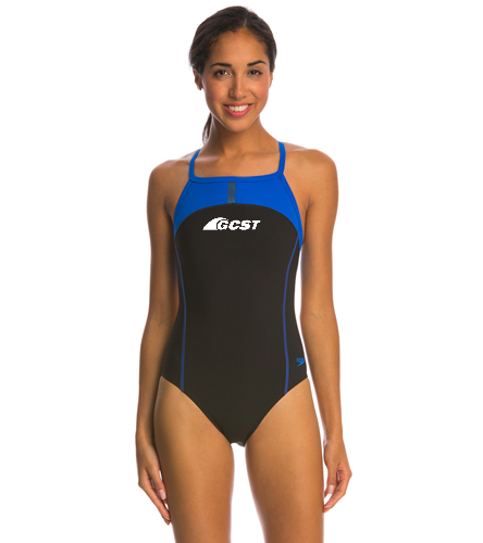 GC Suit - Sprint - Adult - Speedo PowerPlus Bolt Splice Drill Back One Piece Swimsuit