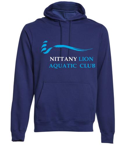 NLAC Adult Fleece Hooded Sweatshirt - SwimOutlet Adult Fan Favorite Fleece Pullover Hooded Sweatshirt