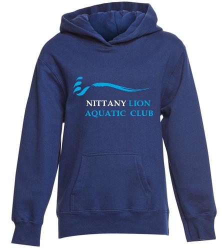 NLAC Youth Fleece Hooded Sweatshirt - SwimOutlet Youth Fan Favorite Fleece Pullover Hooded Sweatshirt
