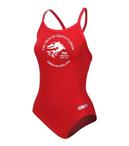YSF Barracudas Women's Arena Master Thin Strap V-Back One Piece Swimsuit - Women's Arena Master Thin Strap V-Back One Piece Swimsuit