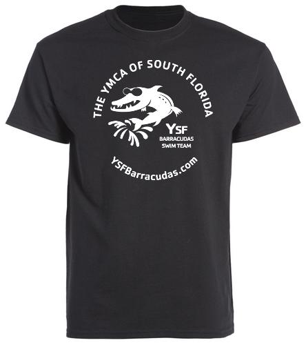 YSF Barracudas Adult T-Shirt BLACK - Heavy Cotton Adult T-Shirt